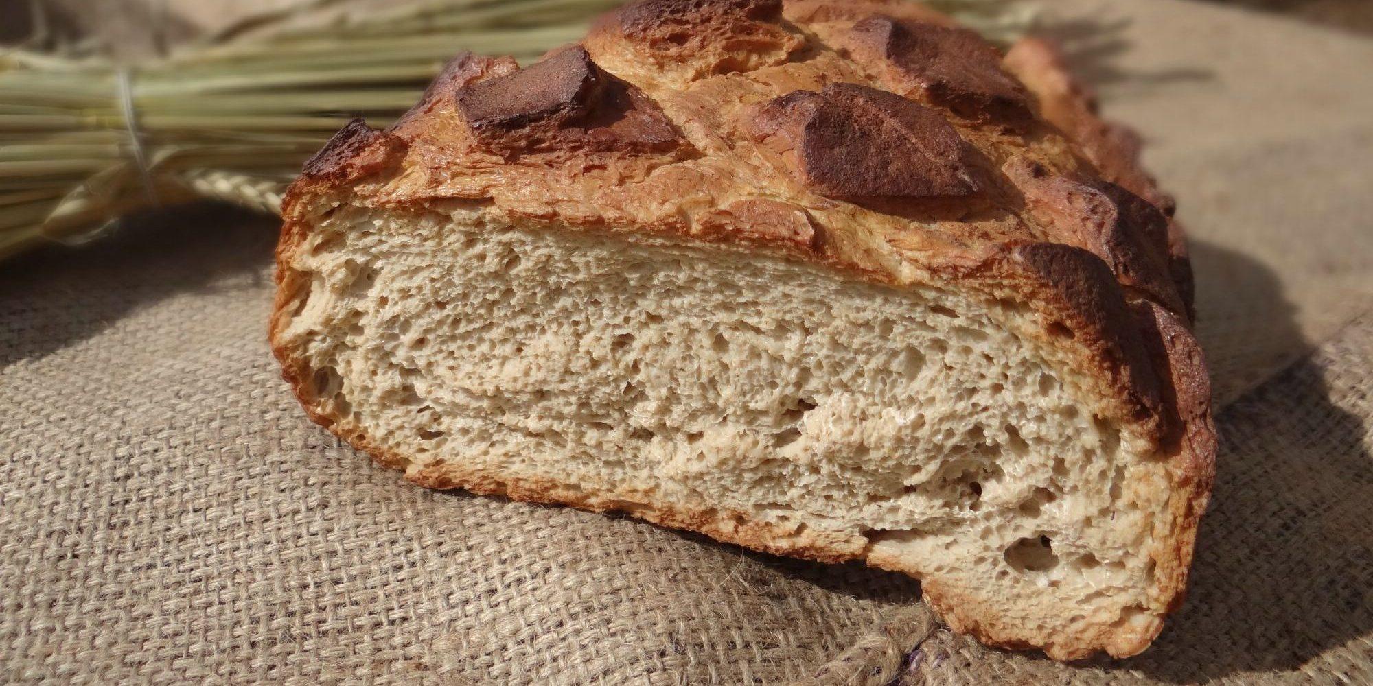 détail de la mie du pain factice historique
