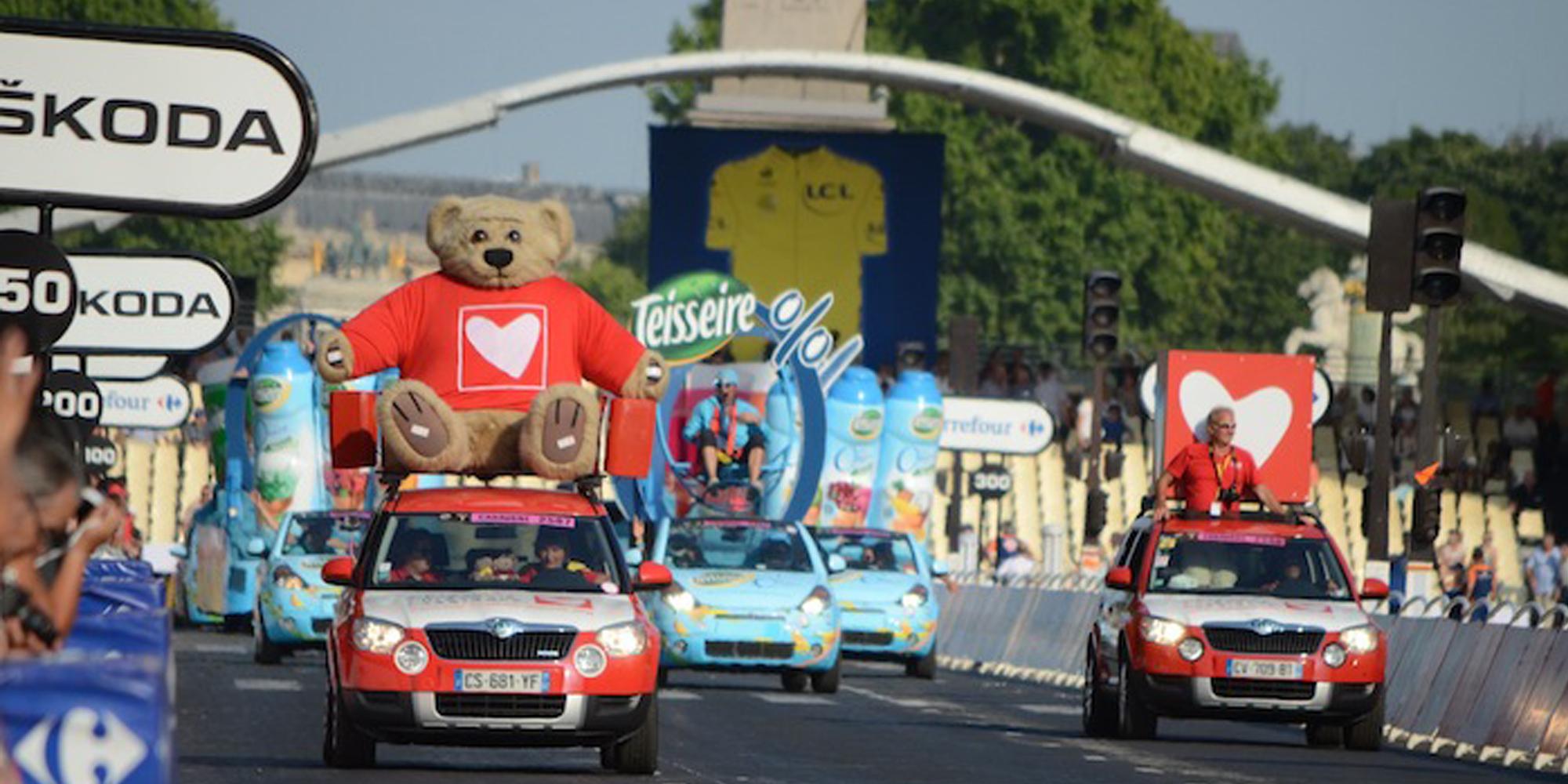 decor de voiture de la caravane du tour de France sorti de l'Atelier Cobalt Fx