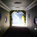 création d'un décor d'attraction abyssal descender pour aquarium de saint malo