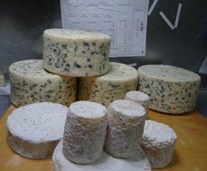 étapes de travail et de préparation d'envoi des fromages factices de l'atelier cobalt fx