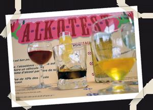 factices alimentaires de boissons alcoolisées pour prévention Calyxis