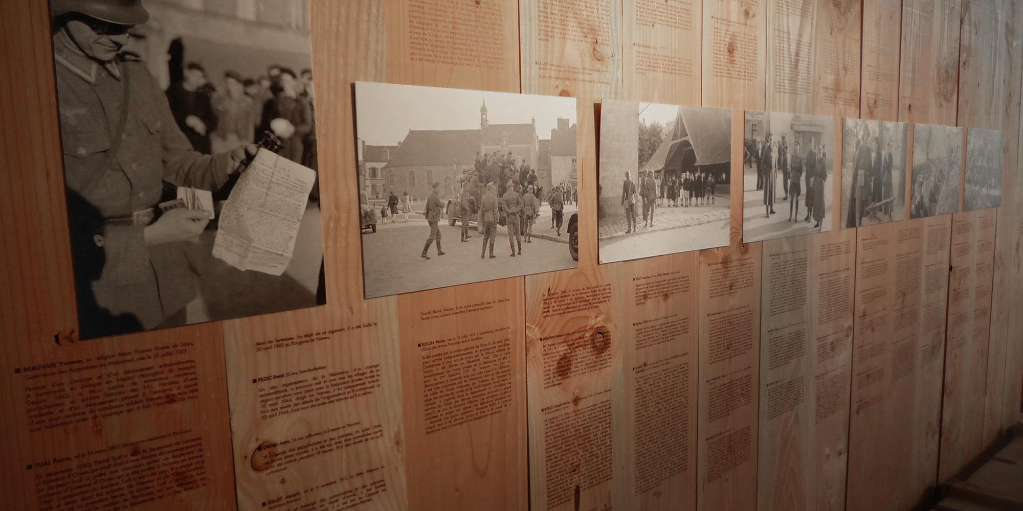 décor de l'exposition Archives du Morbihan par l'Atelier Cobalt Fx