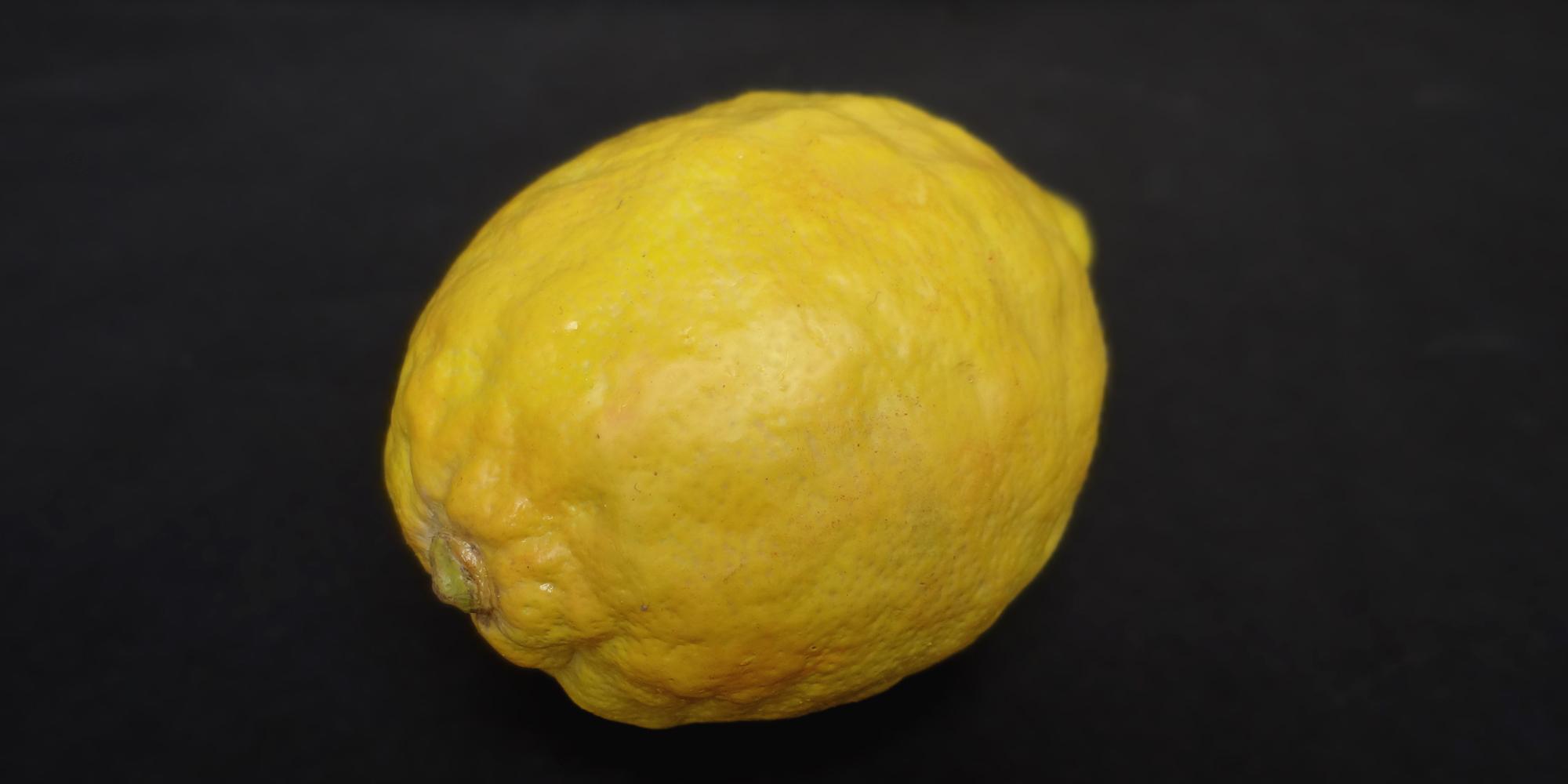 détail de faux citron en résine