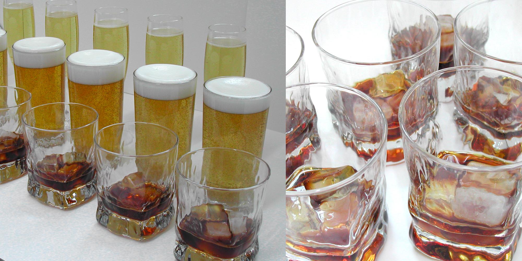 factices alimentaires de boissons avec ou sans glaçons