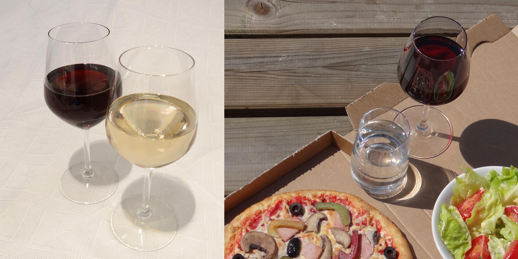 fausses boissons, vin factice et verre d'eau factice en résine