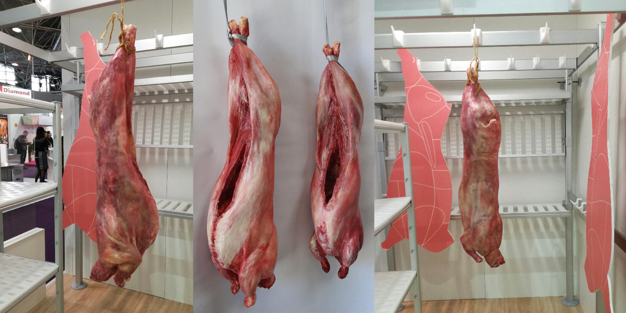 carcasse de viande factice - possible en agneau, porc, boeuf
