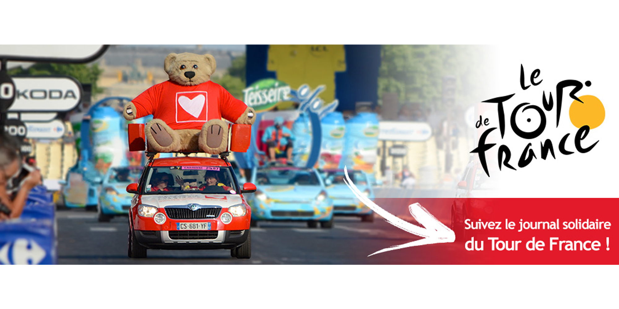 L'atelier Cobalt Fx a réalisé la sculpture d'un décor de voiture de caravane du Tour de France pour Mécénat Chirurgie Cardiaque