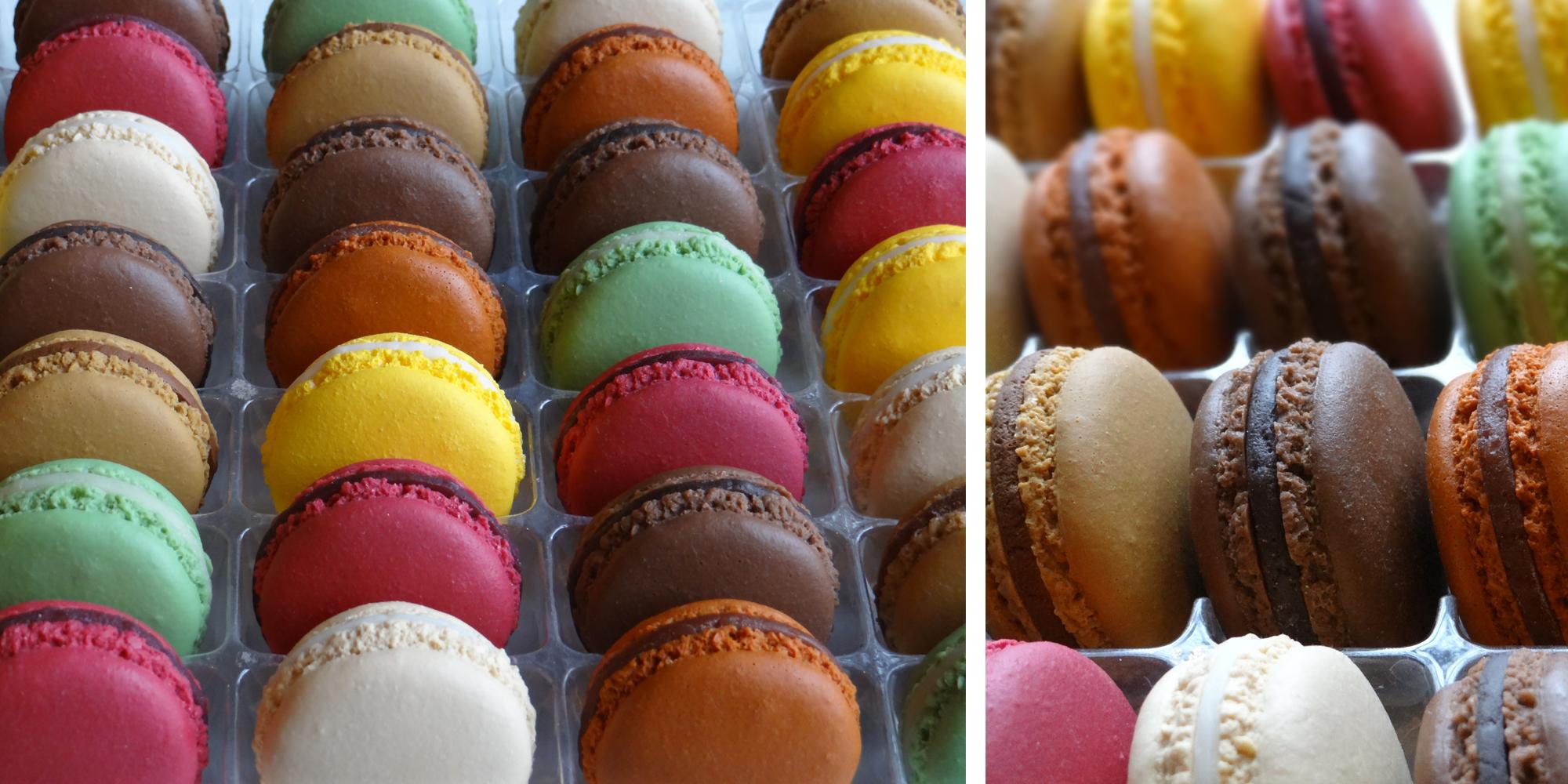 les macarons factices hyper réaliste en aspect trompe l'oeil