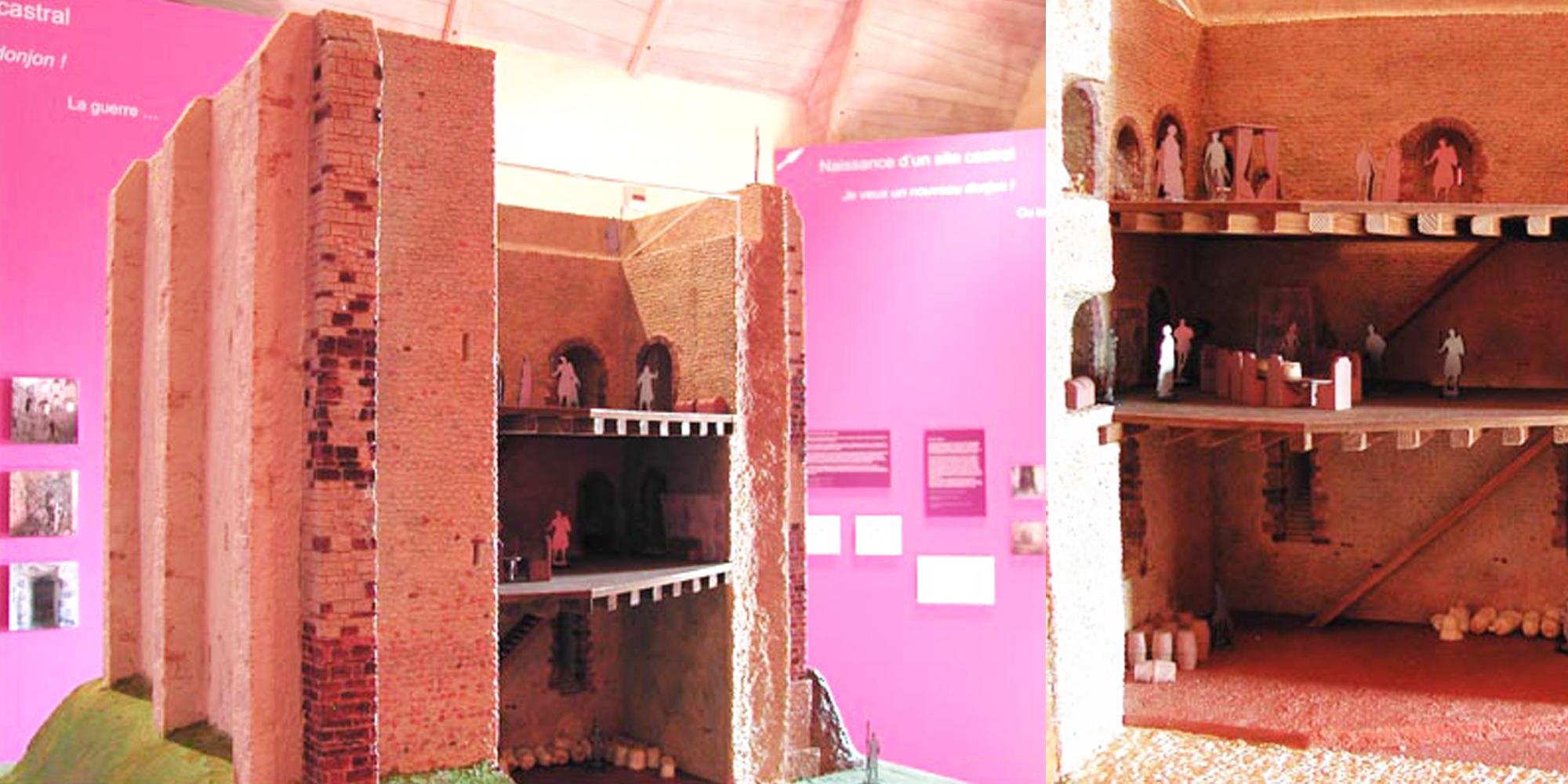 maquette pédagogique pour exposition réalisée en résine par l'atelier Cobalt Fx