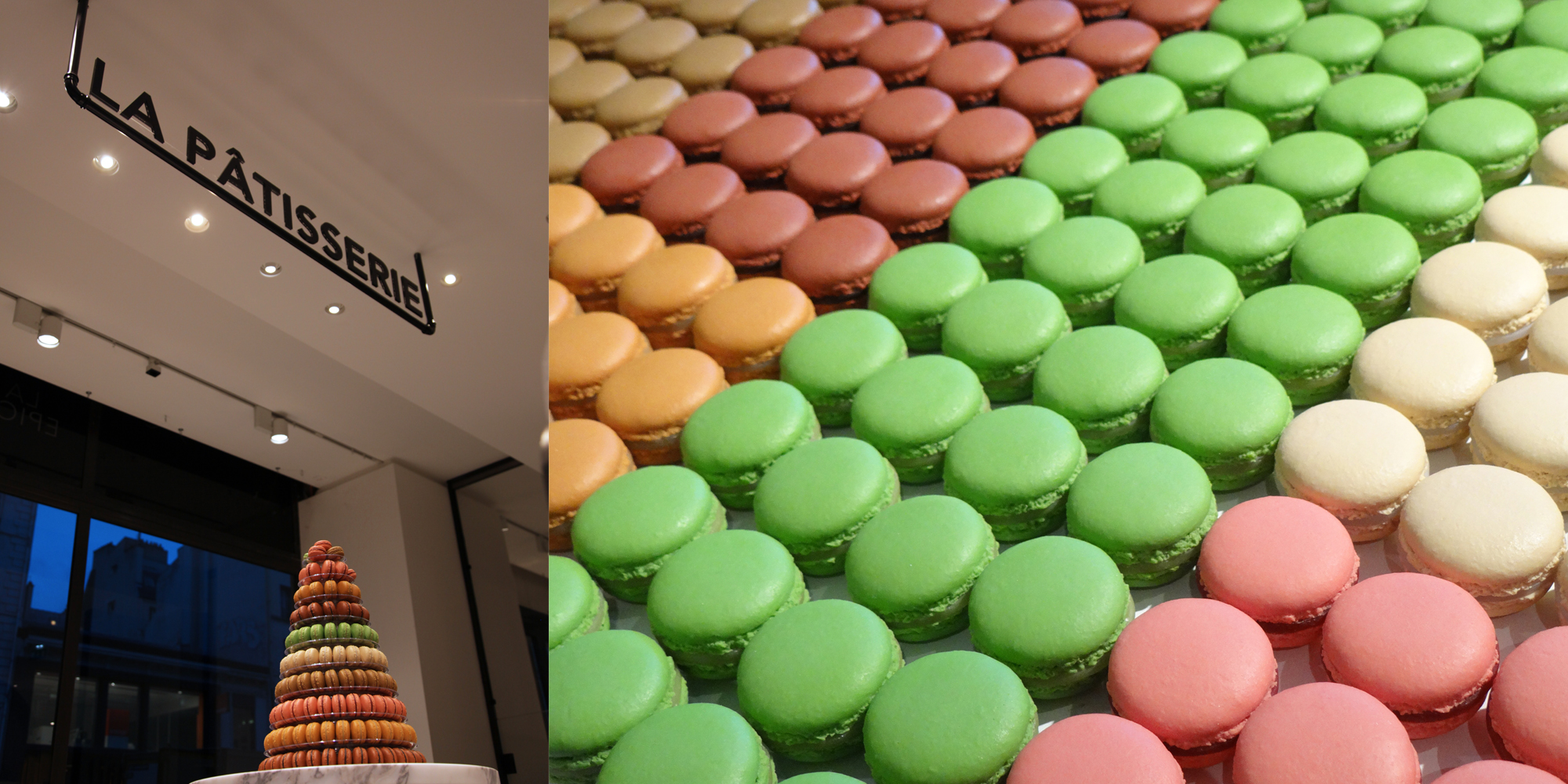 macarons factices pour le rayon patisserie de la grand epicerie de Paris