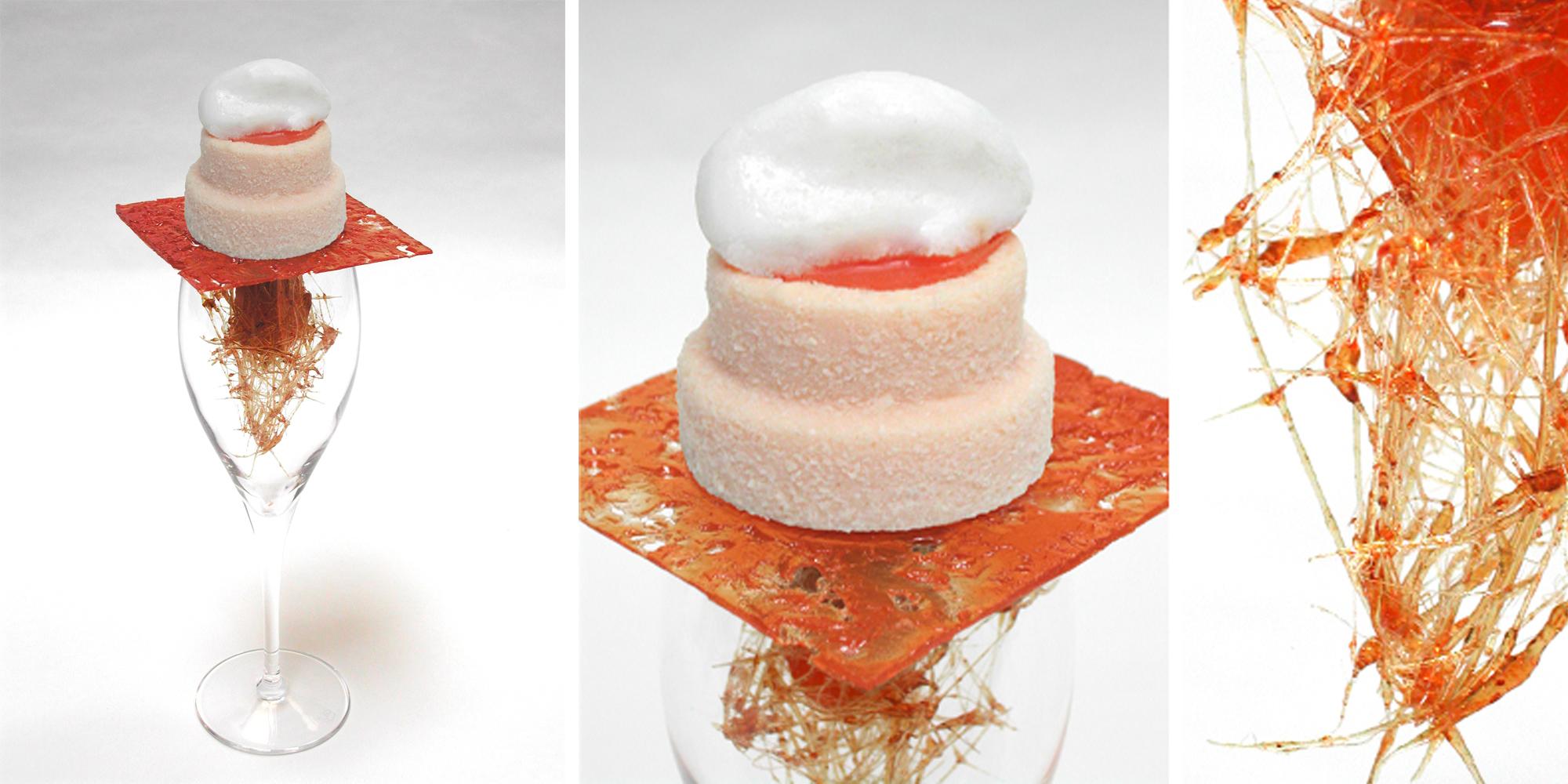 maquette culinaire pour une exposition au Lieu du Design dans le cadre d'un projet pour les Champagne Veuve Clicquot