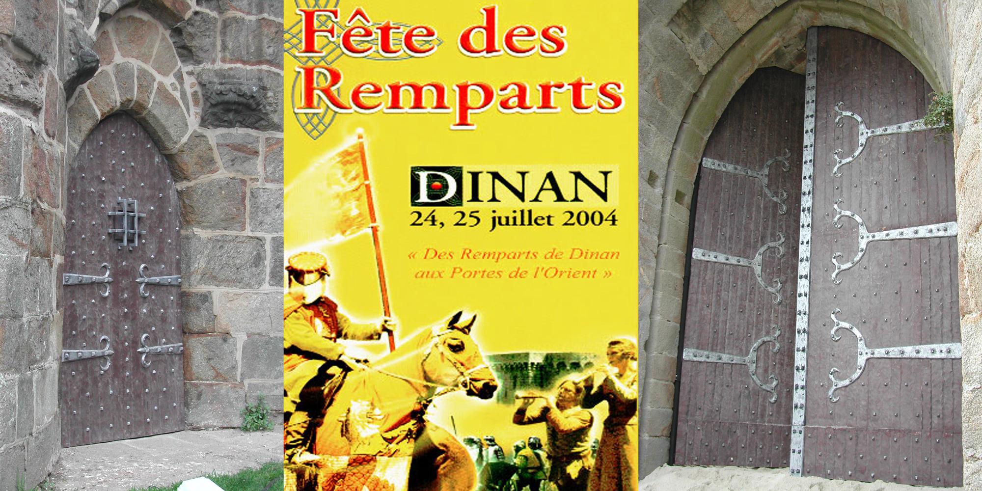 décor de portes médiévales pour fortifications de chateau fort