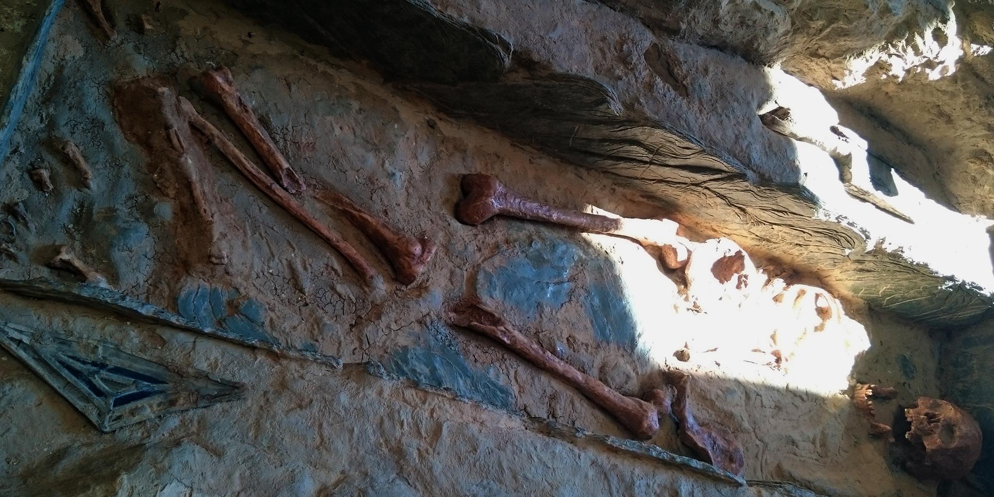 décor de tombe historique en résine