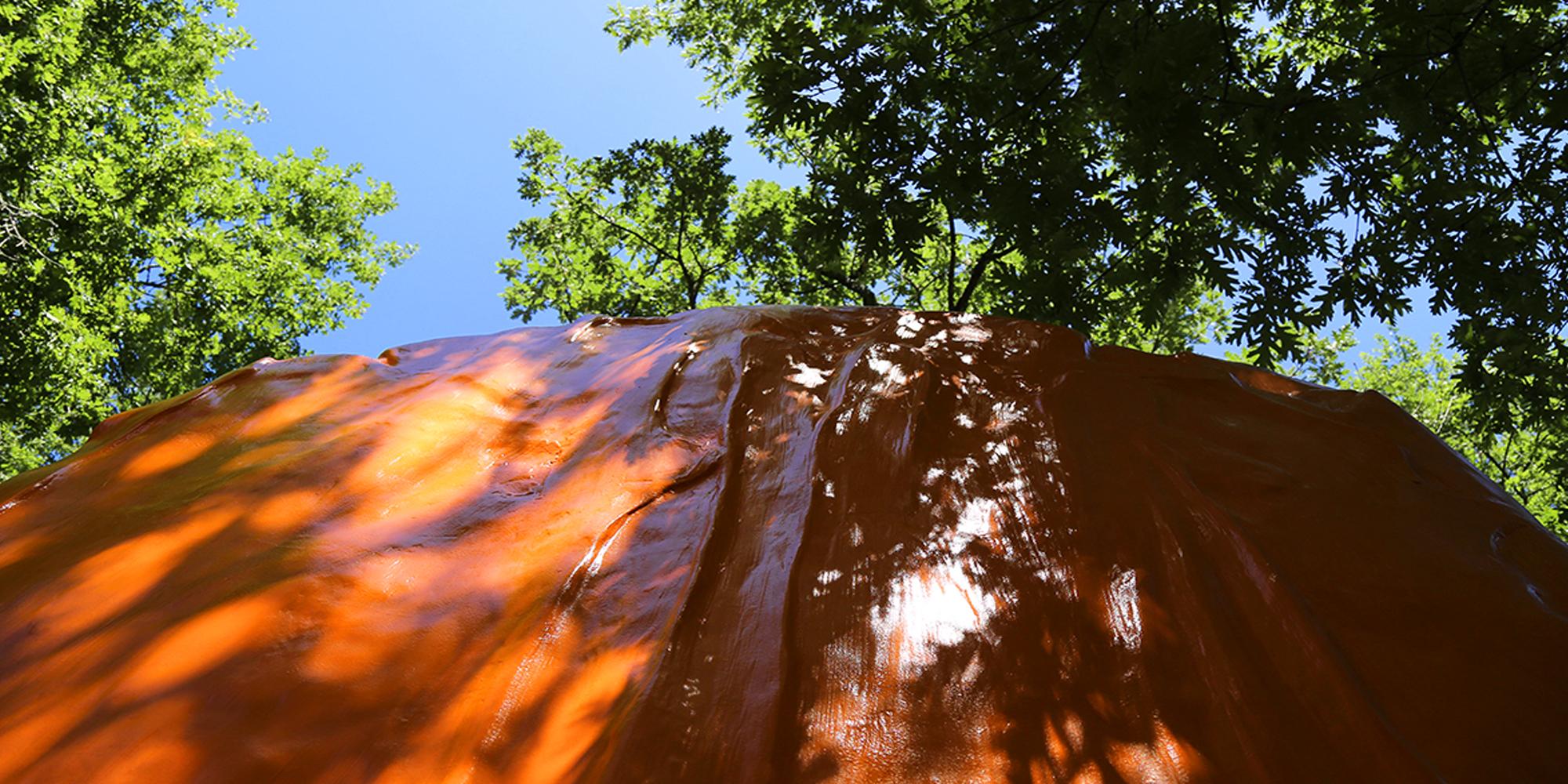 sculpture contemporaine monumentale couleur pop