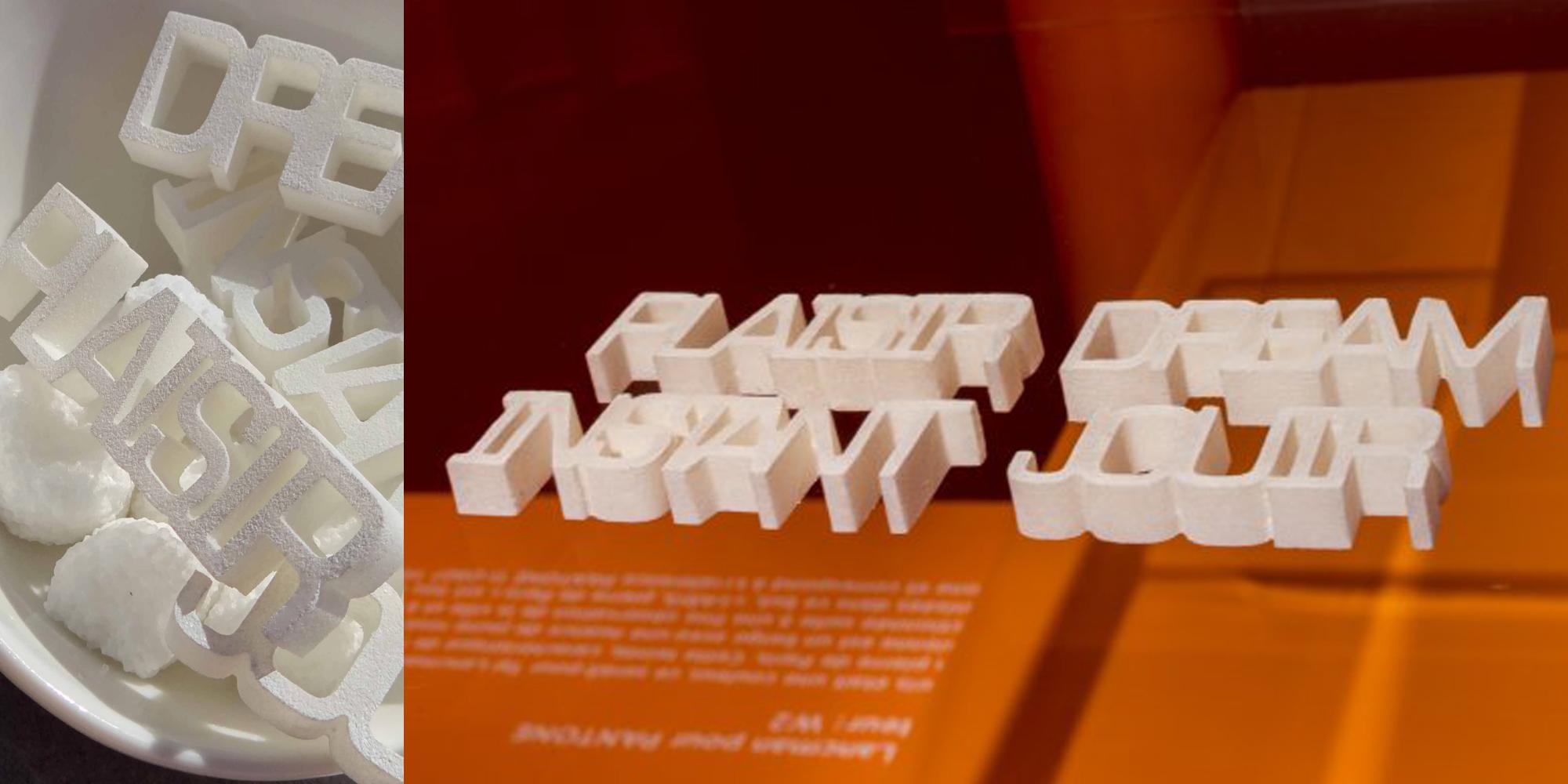 mots en sucre design pour exposition