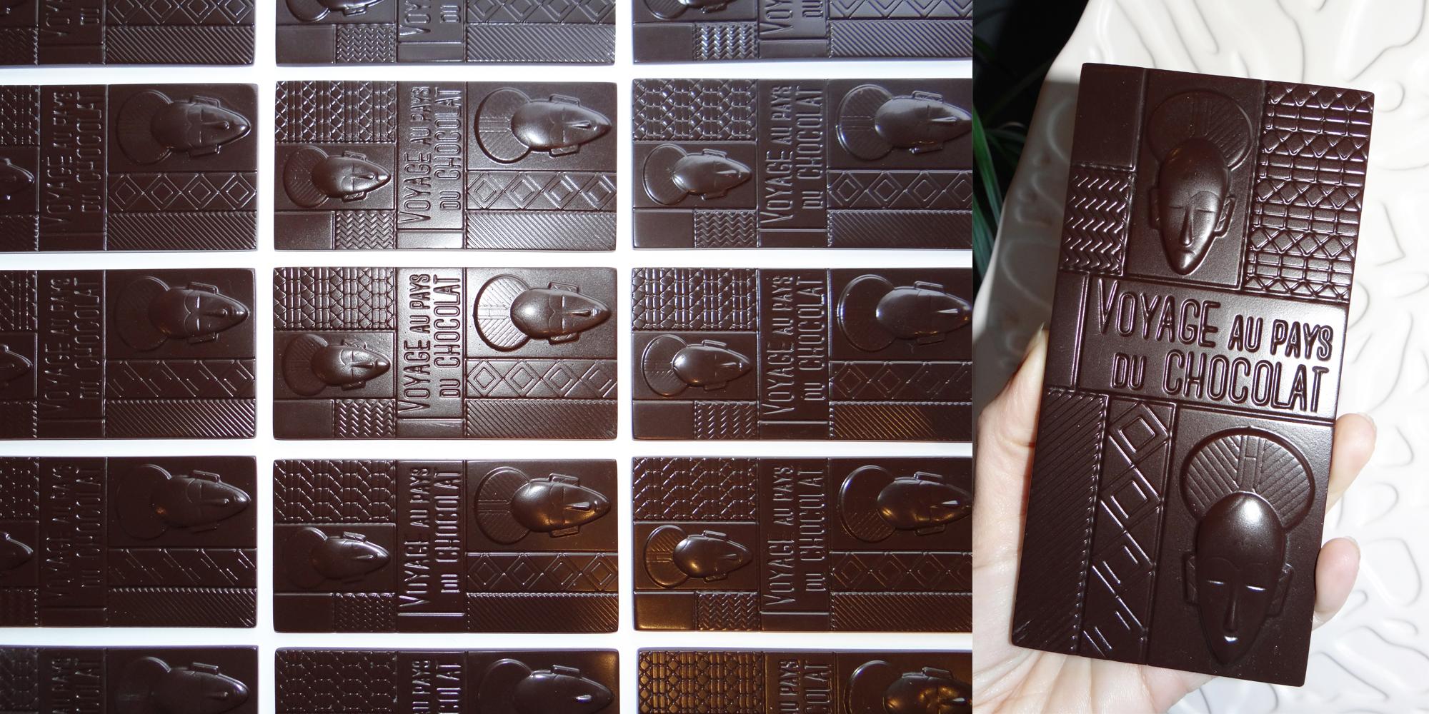 création d'une petite série de fausses tablettes en chocolat en résine pour chocolatiers